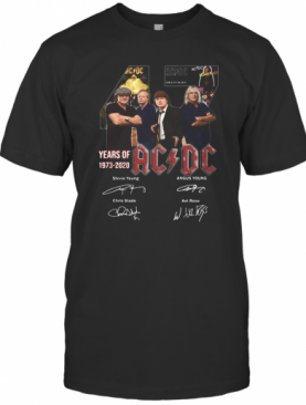 47 Years Of 1973 2020 Acdc Signatures T-Shirt