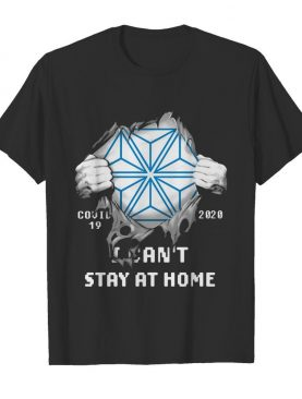 Blood insides bristol myers squibb covid-19 2020 I can't stay at home shirt
