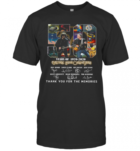 Electric Light Orchestra 50Th Anniversary 1970 2020 Thank You For The Memories T-Shirt Classic Men's T-shirt