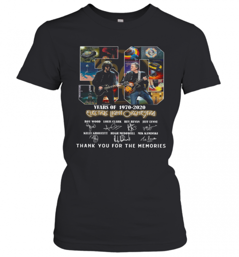 Electric Light Orchestra 50Th Anniversary 1970 2020 Thank You For The Memories T-Shirt Classic Women's T-shirt