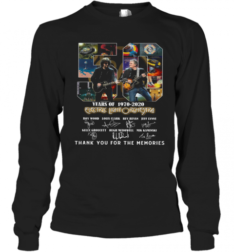 Electric Light Orchestra 50Th Anniversary 1970 2020 Thank You For The Memories T-Shirt Long Sleeved T-shirt