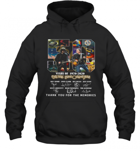 Electric Light Orchestra 50Th Anniversary 1970 2020 Thank You For The Memories T-Shirt Unisex Hoodie