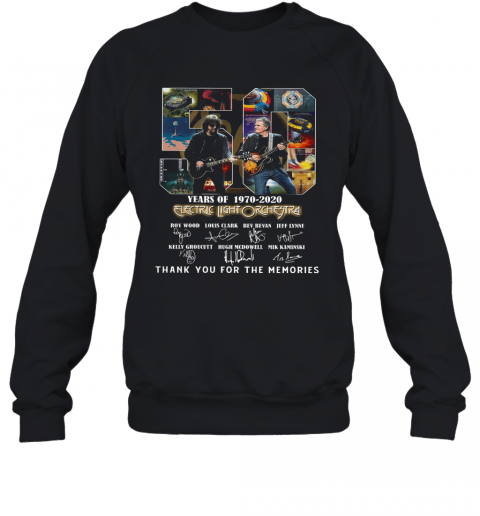 Electric Light Orchestra 50Th Anniversary 1970 2020 Thank You For The Memories T-Shirt Unisex Sweatshirt