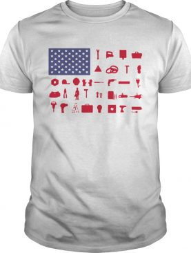 Electrician Independence Day American Flag shirt