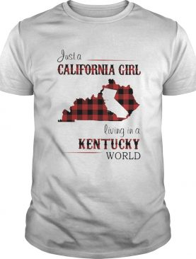 Just a California girl living in a Kentucky world map shirt