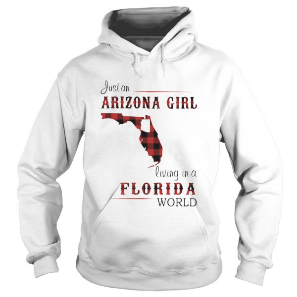 Just an alabama girl living in a florida world map  Hoodie