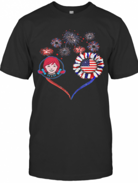 Love Wendy'S Firework America 4Th Of July Independence Day T-Shirt