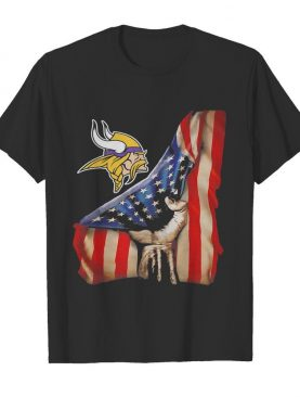 Minnesota vikings american flag independence day shirt