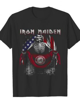 Skeleton Iron Maiden Alabama Crimson Tide Logo American Flag Independence Day shirt