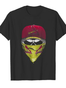 Skull mask st. louis cardinals baseball logo shirt