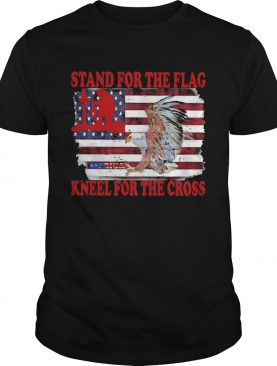 Stand for the flag kneel for the cross American flag veteran Independence day shirt