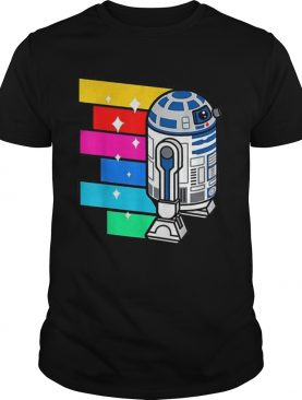 Star Wars R2D2 Rainbow Roll Cartoon shirt