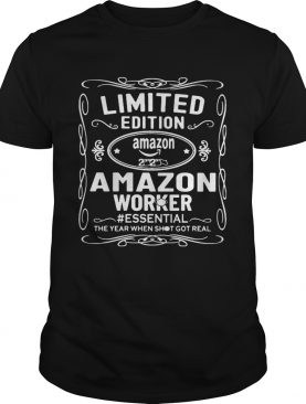 amazon worker essential the year when shit got real mask shirt