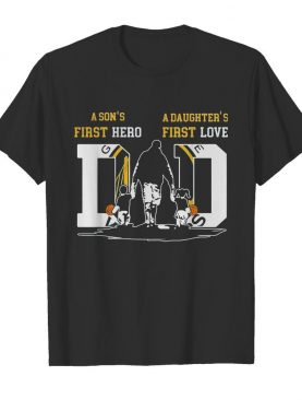 A son's first hero a daughter's first love dad golden state basketball happy father's day shirt