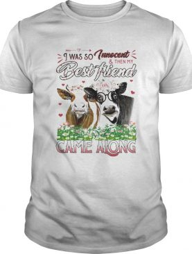 Cow i was so tweet and then my best friend came along flowers shirt