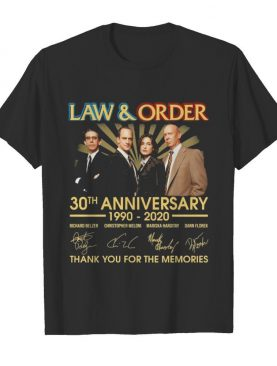 2law And Order 30th Anniversary 1990-2020 Thank You For The Memories shirt