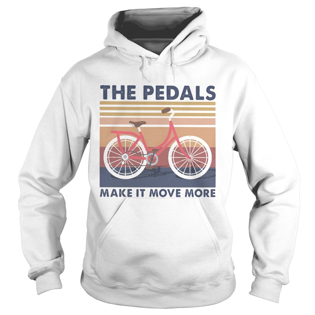 Bicycle the pedals make it move more vintage retro  Hoodie