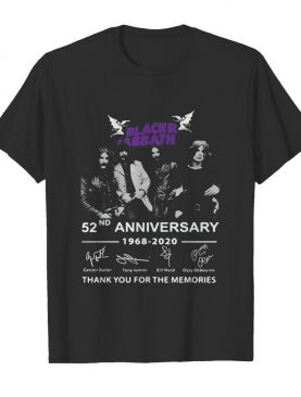 Black sabbath 52nd anniversary 1968 2020 thank you for the memories signatures shirt