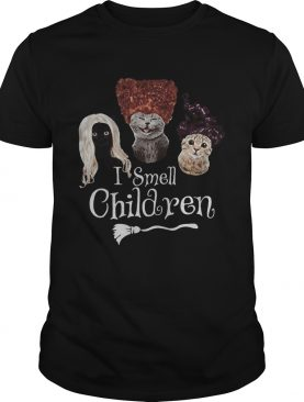 Halloween cats hocus pocus i smell children shirt