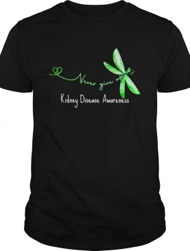 Never Give Up Kidney Disease Awareness Butterfly shirt