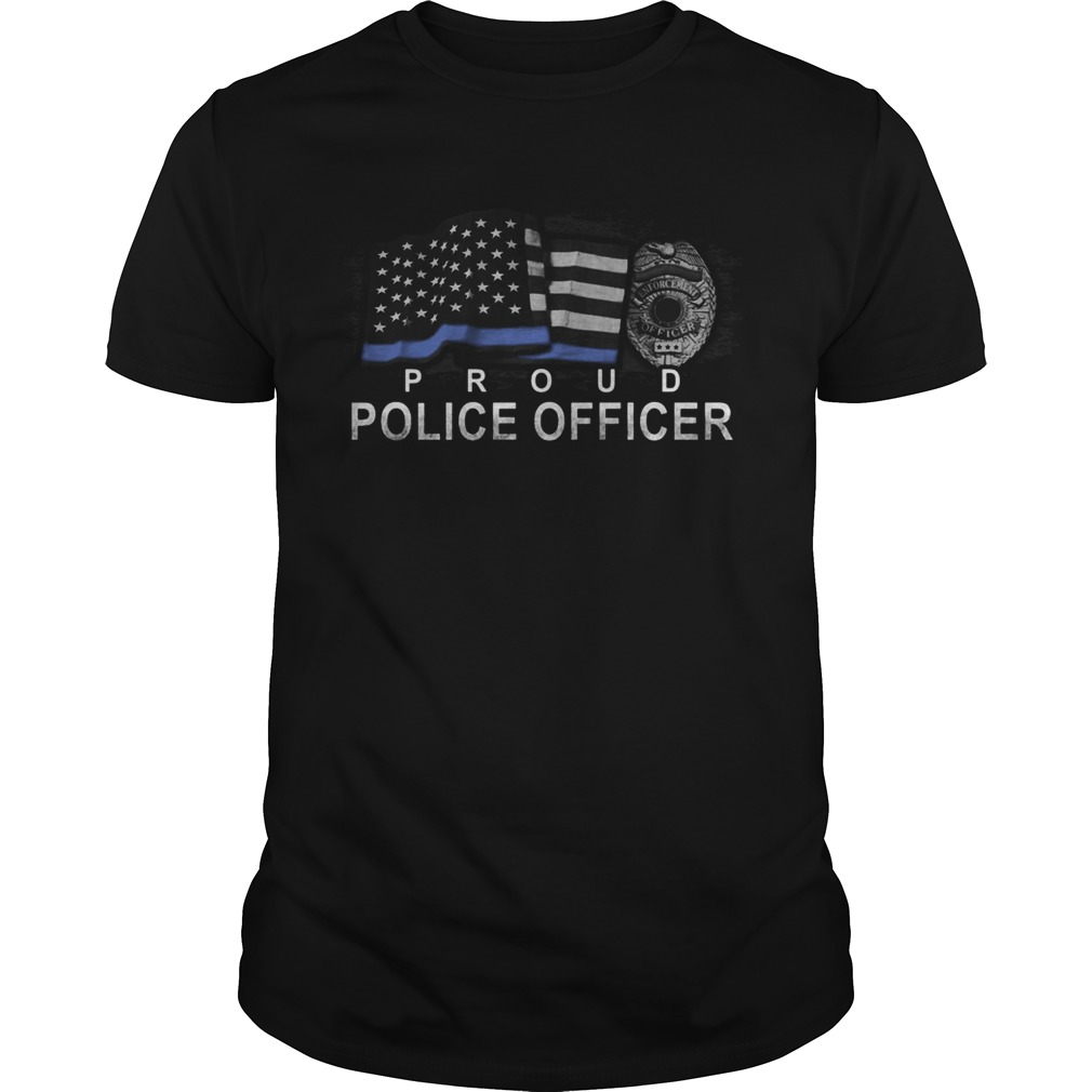 Proud police officer american flag independence day  Unisex