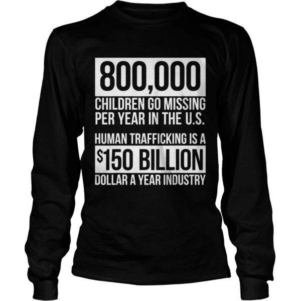 Save Our Children End Child Trafficking Awareness Stats  Long Sleeve