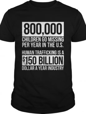 Save Our Children End Child Trafficking Awareness Stats shirt