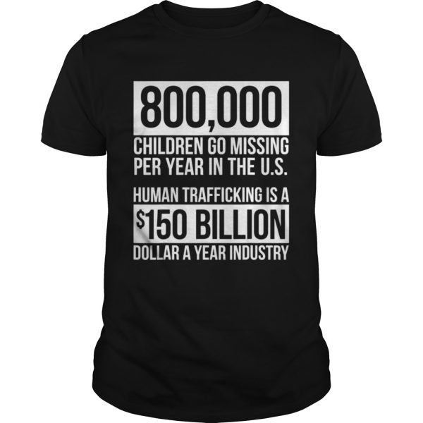 Save Our Children End Child Trafficking Awareness Stats  Unisex