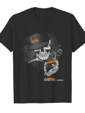 Skeleton skull ktm ready to race logo shirt