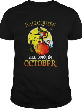 Witch Mask Are Born In October Halloween shirt