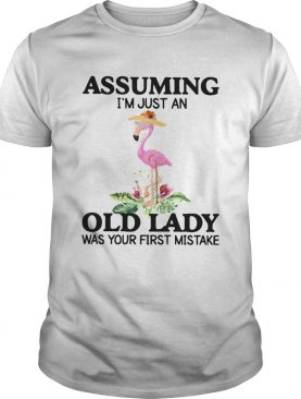 ssuming Im Just An Old Lady Was Your First Mistake shirt