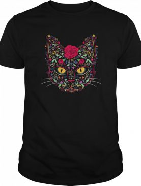 Dead Kitty Cat Sugar Skull shirt