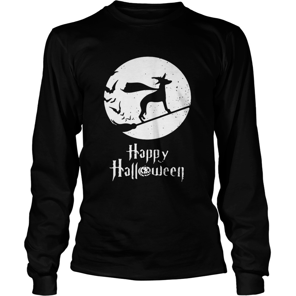 Halloween Witch Whippet Dog Lover  Long Sleeve