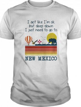 I Act Like I'm Ok But Deep Down I Just Need To Go To New Mexico Vintage shirt