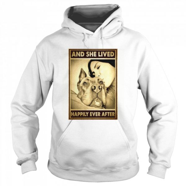 Pitbull And Mom And She Lived Happily Ever After Poster  Unisex Hoodie