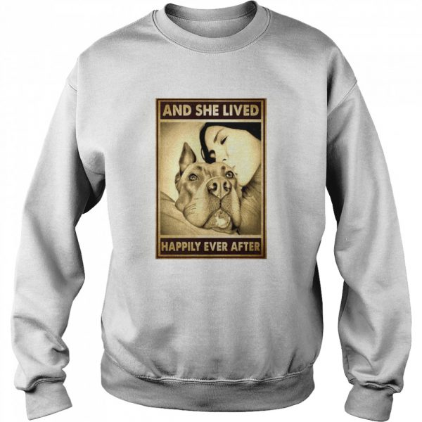 Pitbull And Mom And She Lived Happily Ever After Poster  Unisex Sweatshirt