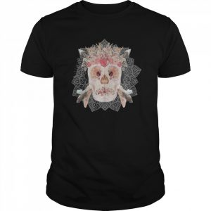 Skulls Mandala Flowers Day Dead  Classic Men's T-shirt