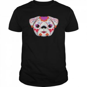 Skulls Señorita Pug Day Of The Dead Muertos  Classic Men's T-shirt