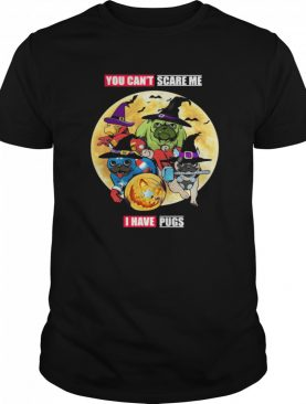 You Can't Scare Me I Have Pugs Avengers Halloween shirt