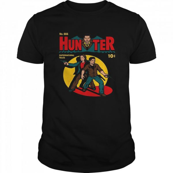 No 666 Hunter Comic Supernatural Tales  Classic Men's T-shirt