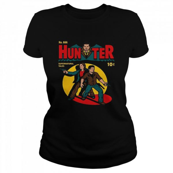 No 666 Hunter Comic Supernatural Tales  Classic Women's T-shirt