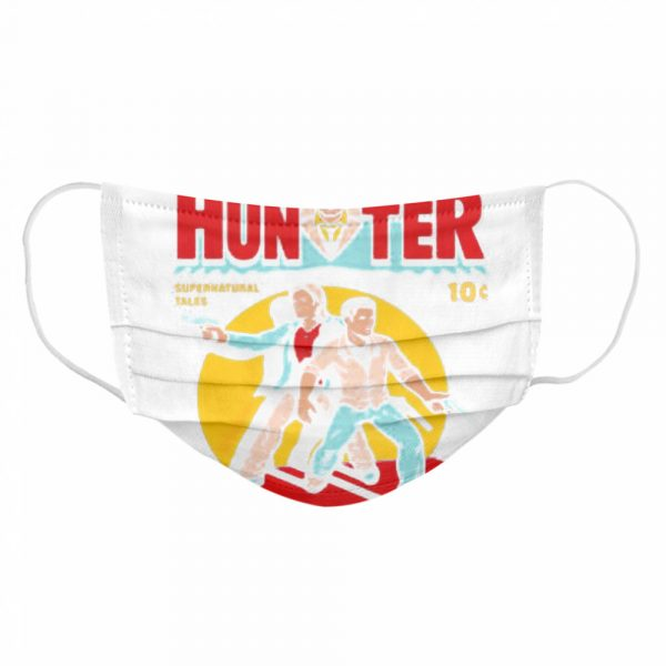 No 666 Hunter Comic Supernatural Tales  Cloth Face Mask