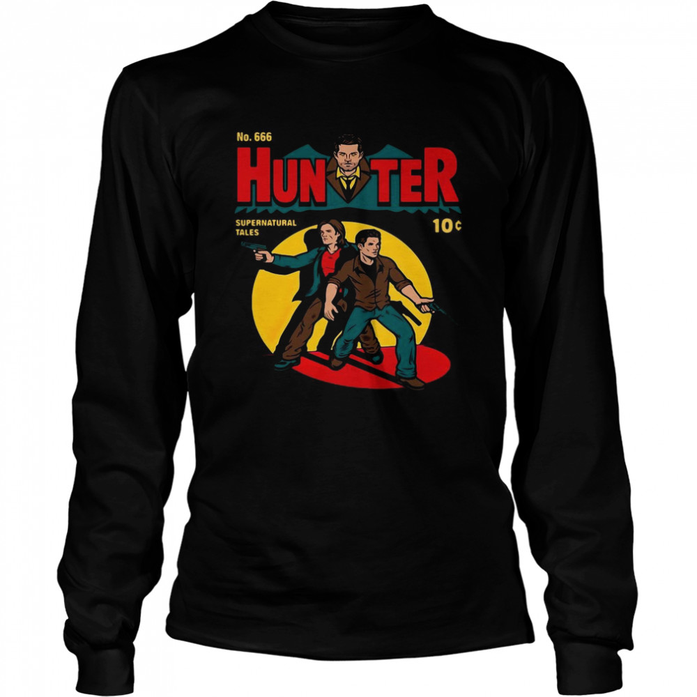 No 666 Hunter Comic Supernatural Tales  Long Sleeved T-shirt
