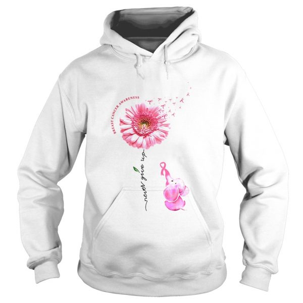 Breast Cancer Awareness Never Give Up  Hoodie