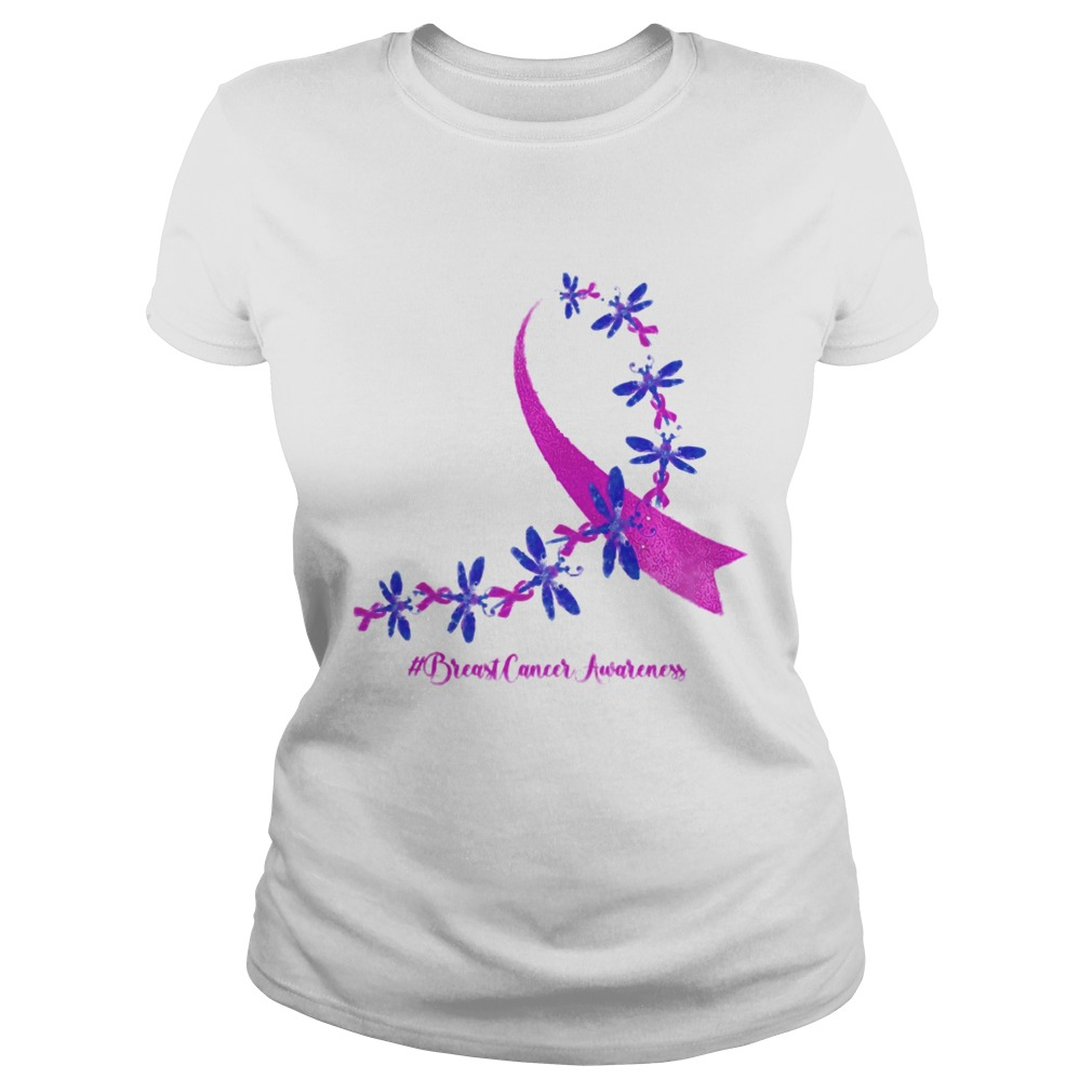 Dragonfly Breast Cancer Awareness Ribbon Pink  Classic Ladies