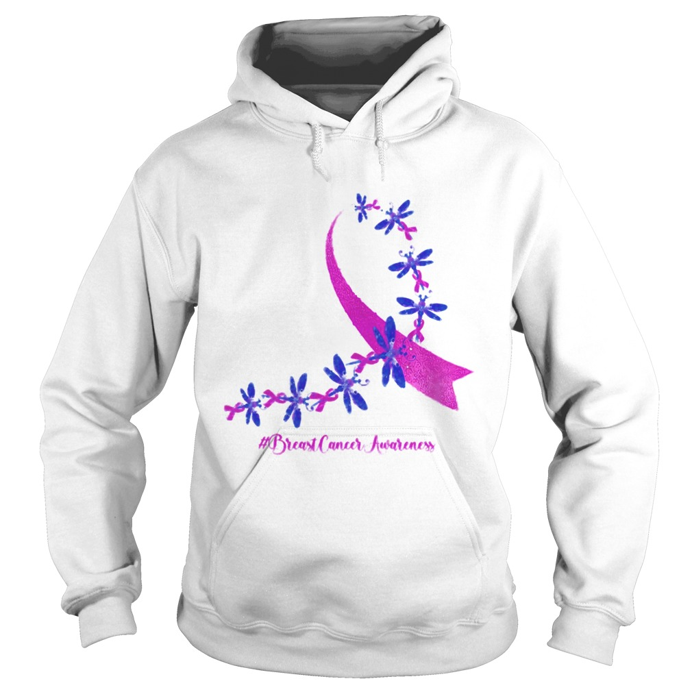 Dragonfly Breast Cancer Awareness Ribbon Pink  Hoodie