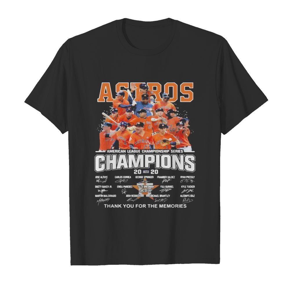 Houston astros american league championship series champions thank you for the memories signatures  Classic Men's T-shirt