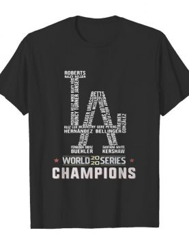 Los Angeles Dodgers World Series 2020 Champions shirt