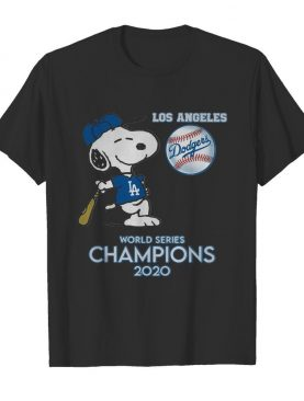 Snoopy Los Angeles Dodgers 2020 World Series Champions shirt