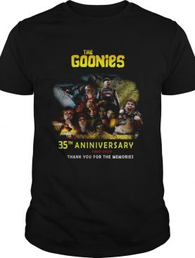 The Goonies 35th Anniversary 19852020 Thank You For The Memories shirt